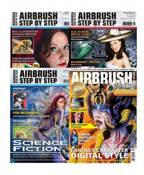 Airbrush Step by Step annual set 2016 (4 issues)
