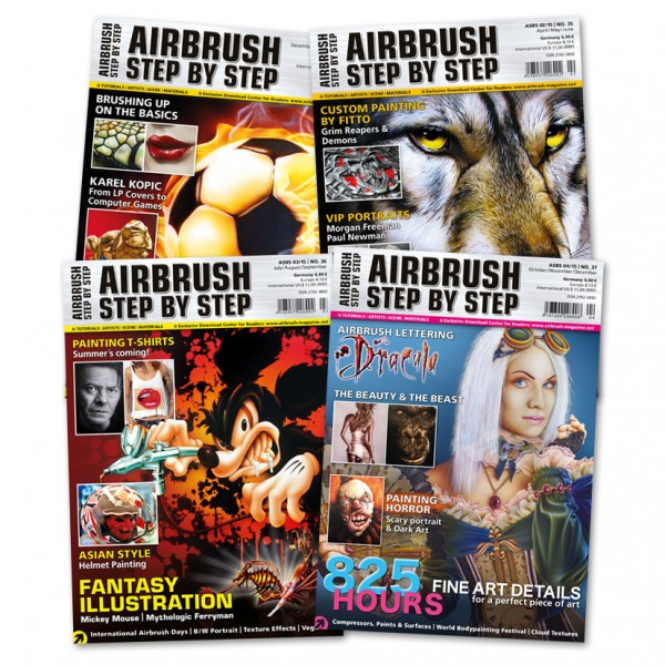 Airbrush Step by Step annual set 2015 (4 issues)