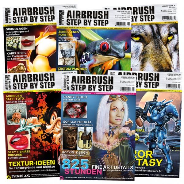 Airbrush Step by Step Jahressatz 2015