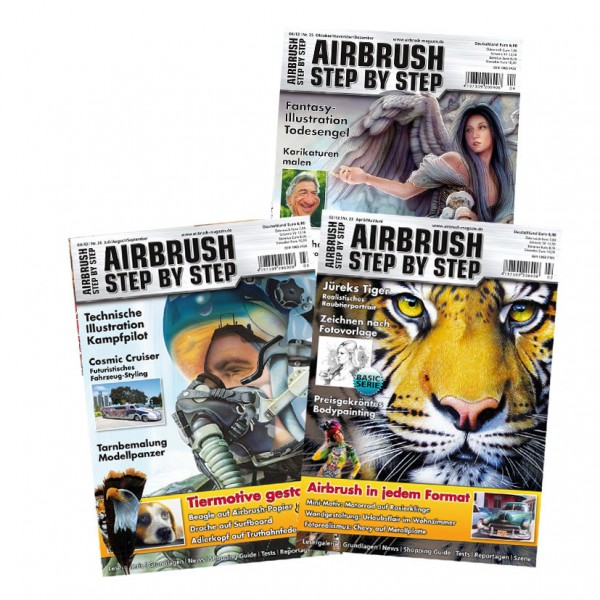 Airbrush Step by Step annual set 2012 (3 issues)