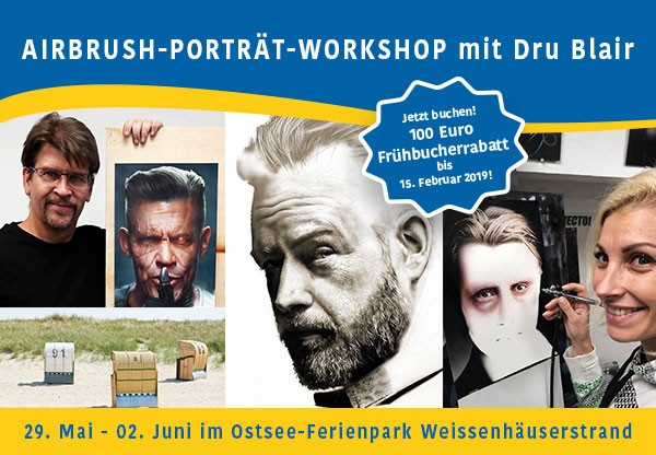 ASBS Holidays 2019: Dru Blair Porträt-Workshop, Ostsee