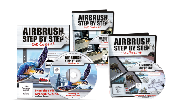 Airbrush Step by Step DVD Series: Digital-Bundle