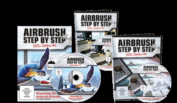 Airbrush Step by Step DVD Series: Digital-Bundle