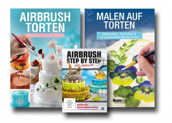 Tortendeko-Bundle: Airbrush auf Torten, Malen auf Torten & Airbrush-Tortendekoration