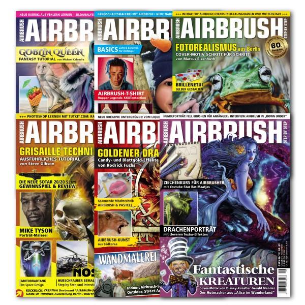 Airbrush Step by Step Jahressatz 2019 (6 Hefte)