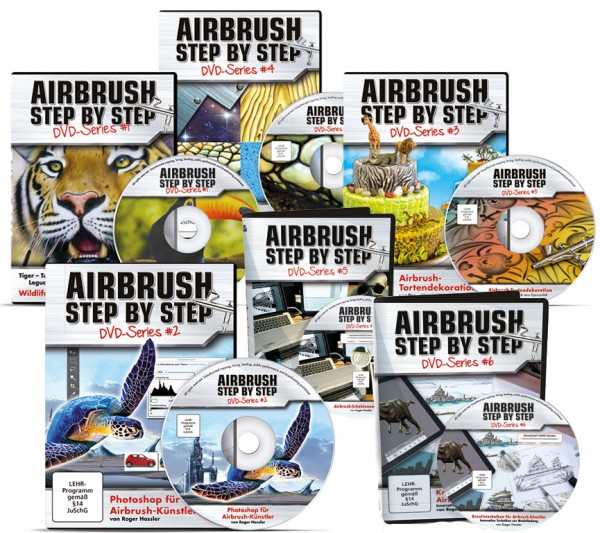 Airbrush Step by Step DVD Series komplett