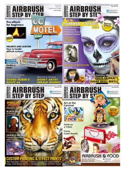 Airbrush Step by Step annual set 2014 (4 issues)