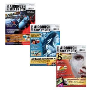 Airbrush Step by Step Jahressatz 2011 (3 Hefte)