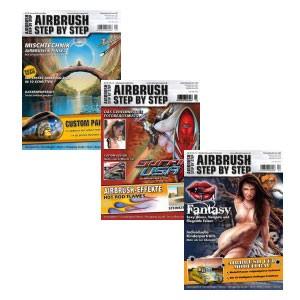Airbrush Step by Step Jahressatz 2010 (3 Hefte)