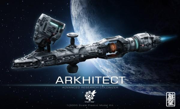 Arkhitect Airbrush-Raumschiff Modellbausatz