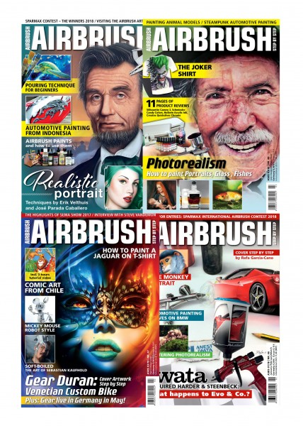 Airbrush Step by Step annual set 2018 (4 issues)