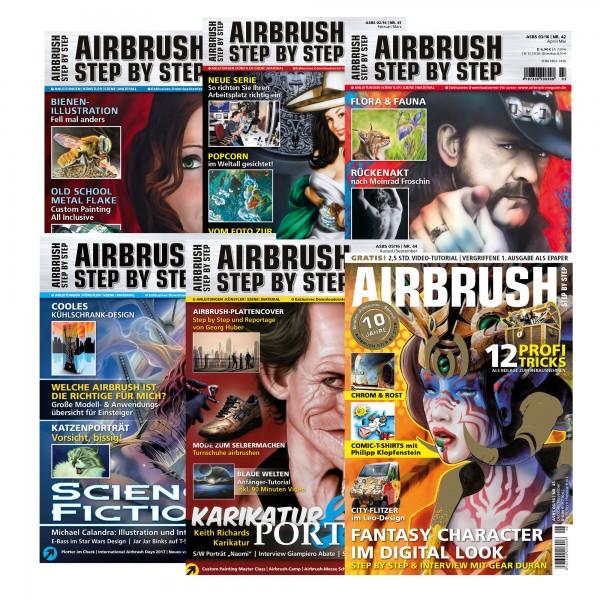 Airbrush Step by Step Jahressatz 2016