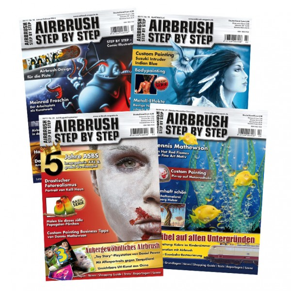 Airbrush Step by Step annual set 2011 (4 issues)