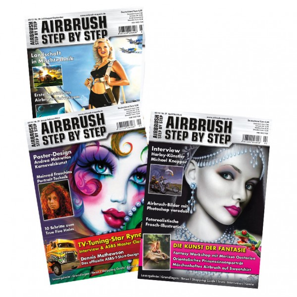 Airbrush Step by Step annual set 2013 (3 issues)