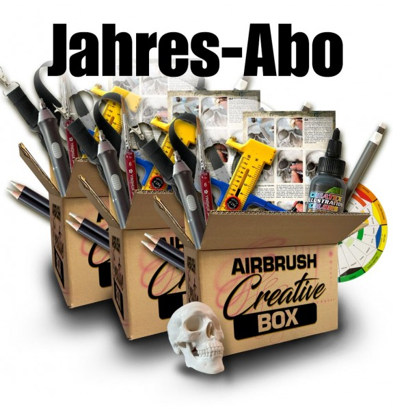 Airbrush Creative Box - Jahres-Abo (3 Boxen)
