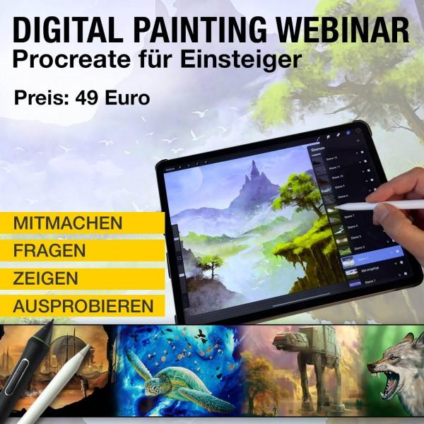 Digital Painting Webinar mit Procreate für Einsteiger, 28.05.21