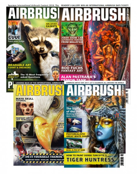 Airbrush Step by Step annual set 2017 (4 issues)